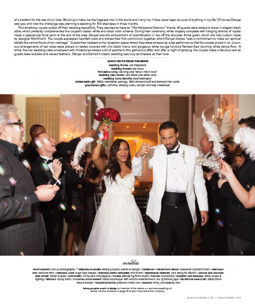 Ebony Peoples Events & Design, Dallas Wedding Planner, Wedding Magazine, Old Hollywood Wedding, Black and White Wedding, Danyel Surrency-Jones, Darnell Jones