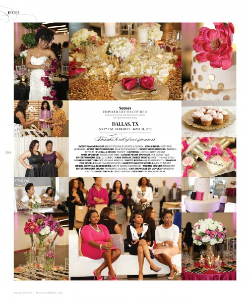 Munaluchi Bride Magazine, Ebony Peoples Events & Design, Dallas Bridal Show